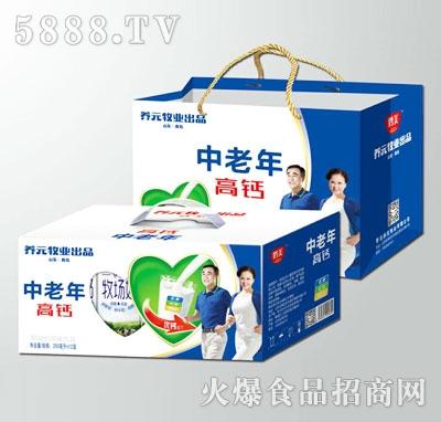 鹤美中老年高钙奶250mlX12盒