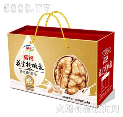 福牛高钙花生核桃乳250mlx24盒