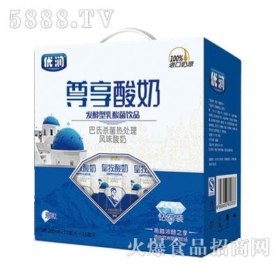 优润尊享酸奶原味200mlx12盒x16盒