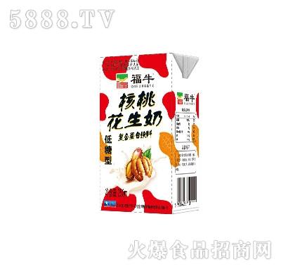 福牛核桃花生奶低糖型250ml