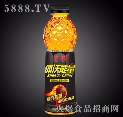 优锐体沃能量维生素果味饮料600ml