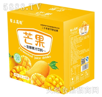 黄土高坡芒果发酵果汁饮料1.5LX6瓶