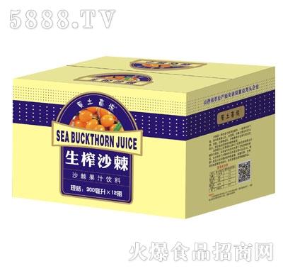 黄土高坡沙棘果汁饮料300mlX12瓶