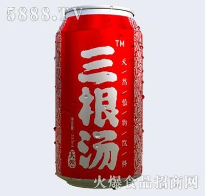 三根汤植物功能饮料红罐装