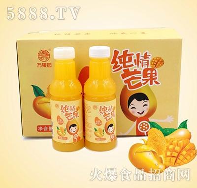 万果园纯情芒果芒果味饮料450mlx15瓶