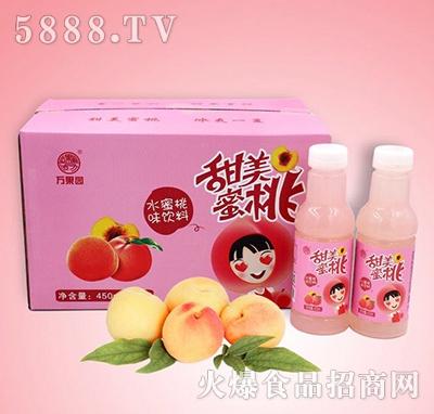 万果园甜美蜜桃水蜜桃味饮料450mlx15瓶