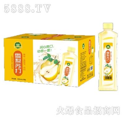 美果派雪梨苏打果味饮料(400mlx24瓶)