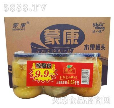 蒙康水果罐头1.53kg