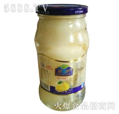蒙康糖水梨罐头1kg