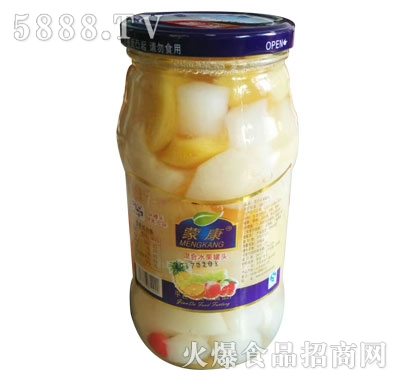 蒙康混合水果罐头1kg