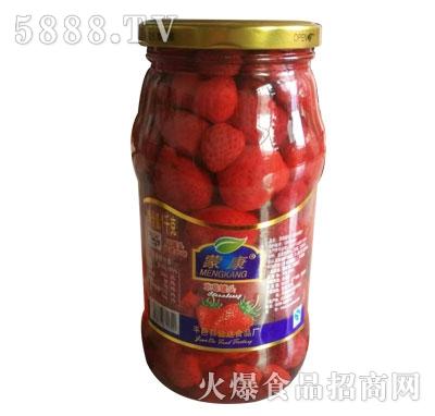 蒙康草莓罐头1kg