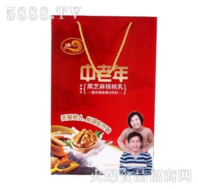 畅田中老年黑芝麻核桃乳(袋)产品图