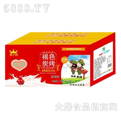 董小萌褐色炭烧发酵酸奶饮品红枣味300mlX15