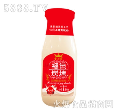 董小萌褐色炭烧发酵酸奶饮品红枣味300ml