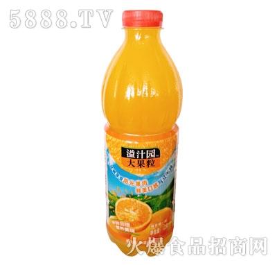 旺淼溢汁园大果粒橙汁饮料1.25L