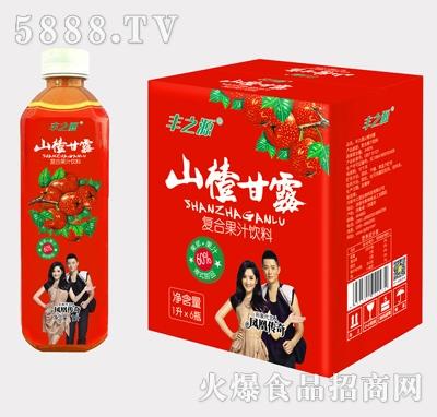丰之源山楂甘露果汁饮料1Lx6瓶