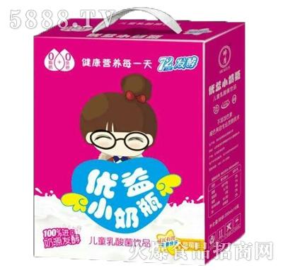 优益小奶瓶儿童乳酸菌(草莓味)箱