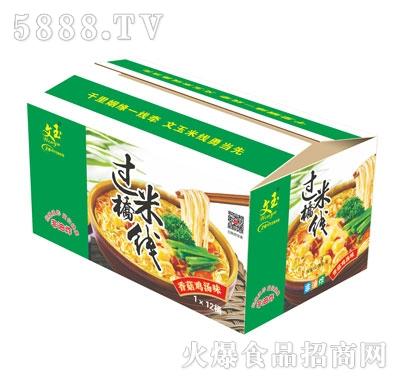 文玉过桥米线香菇鸡汤味1X12桶