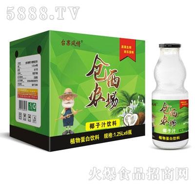仓西农场椰子汁1.25Lx6瓶(葫芦瓶)