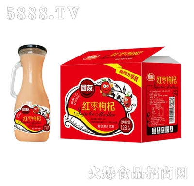 团友红枣枸杞复合果汁1.25L