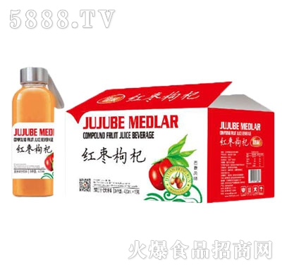 团友红枣枸杞果汁饮料420mlx15瓶