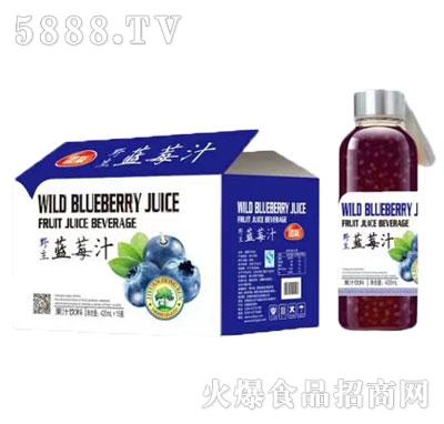 团友野生蓝莓汁420mlx15瓶