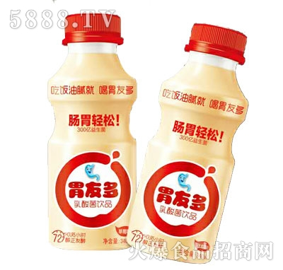 胃友多软酸菌饮品草莓味340ml