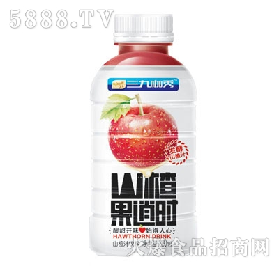 三九咖秀山楂果逍时山楂汁饮料380ml