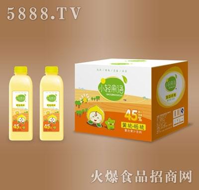 小轻果语黄桃杨桃复合果汁饮料