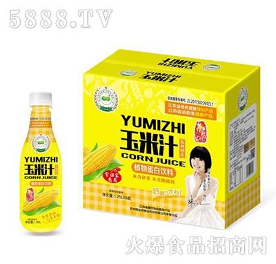 稻米香玉米汁植物蛋白饮料1.25Lx6瓶