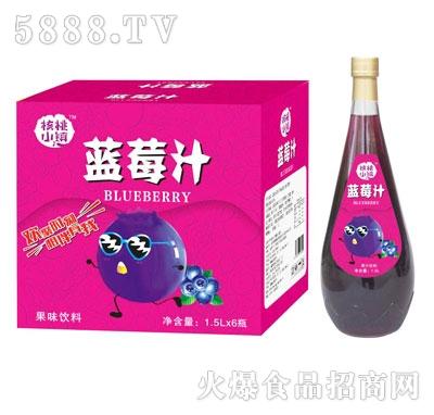 核桃小镇蓝莓汁1.5LX6