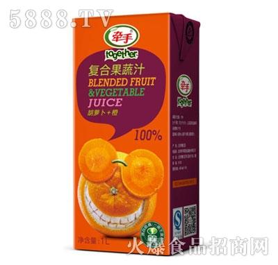 牵手胡萝卜+橙复合果蔬汁1L产品图