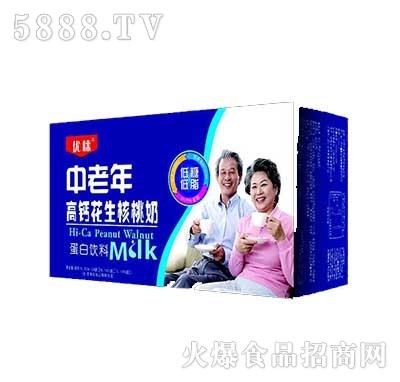 优崃中老年高钙花生核桃奶250MLX12