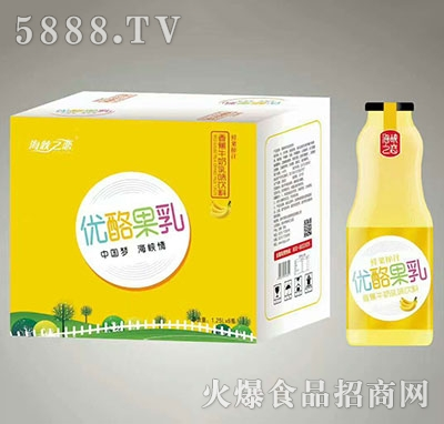 海峡之恋优酪果乳香蕉牛奶入味饮料1.25Lx6瓶