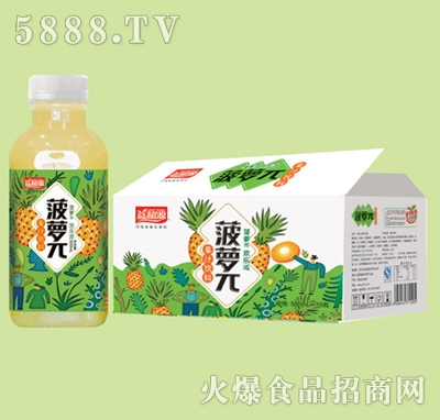 益和源菠萝π果汁饮料500mlx15瓶