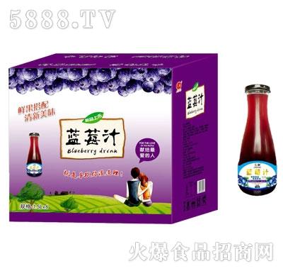 汇甜蓝莓汁1.5LX6
