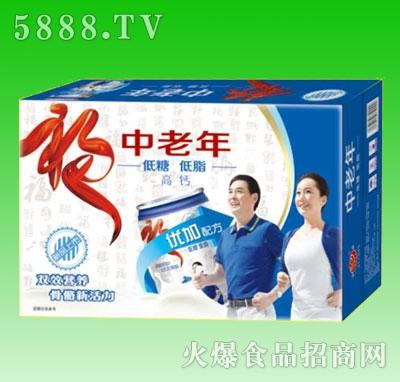 中老年低糖低脂高钙奶