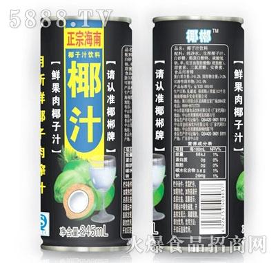 正宗海南椰子汁饮料245ml