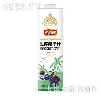 1L心滋园生榨椰子汁产品图