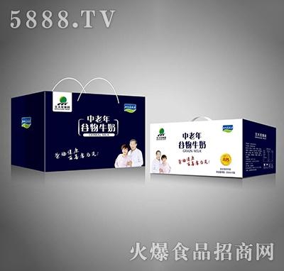 北大荒集团中老年谷物牛奶250mlx12盒