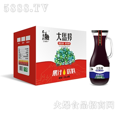 大马邦1.25Lx6蓝莓汁手柄瓶