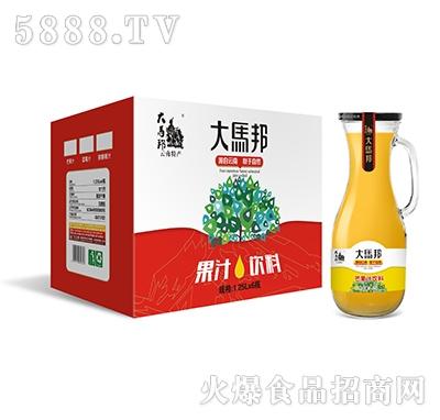 大马邦1.25Lx6芒果汁手柄瓶