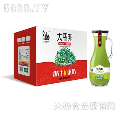 大马邦1.25Lx6猕猴桃汁手柄瓶