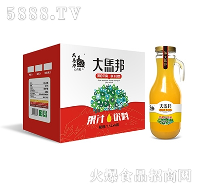 大马邦1.5Lx6芒果汁手柄瓶