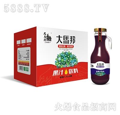 大马邦1.5Lx6蓝莓汁手柄瓶
