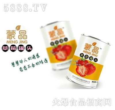 蒙晶草莓罐头