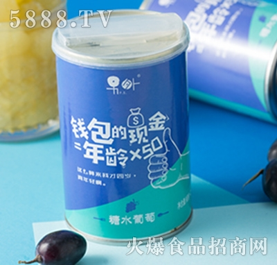 钱包的现金=年龄x50糖水葡萄罐头425ml