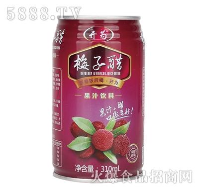 开为梅子醋310ml罐