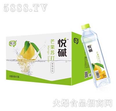 悦碱芒果苏打果味饮料400mlX24瓶