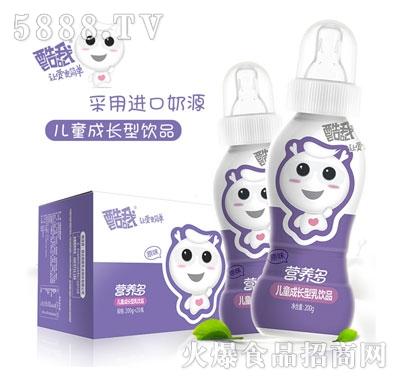 饮料代理酷我营养多儿童成长型乳饮料奶嘴饮料原味200gx20瓶